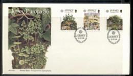 Jersey 1986 Europa Environment FDC - Jersey