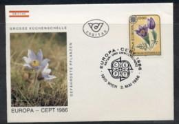 Austria 1986 Europa Environment FDC - FDC