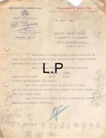 33-0793   1929 MANUFACTURE D ESPADRILLES D AGUER A MAULEON SOULE - M. JACQUET A CHATEAUROUX - 1900 – 1949