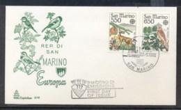 San Marino 1986 Europa Environment FDC - FDC