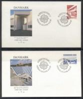 Denmark 1987 Europa Architecture 2x FDC - FDC