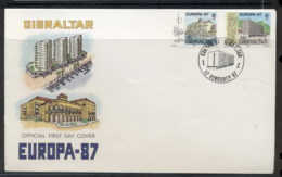 Gibraltar 1987 Europa Architecture FDC - Gibraltar