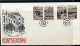 Guernsey 1987 Europa Architecture FDC - Guernsey