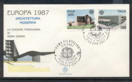 Italy 1987 Europa Architecture FDC - 6. 1946-.. Republic