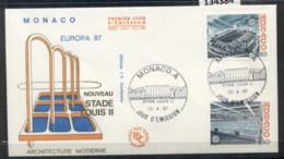 Monaco 1987 Europa Architecture FDC - FDC