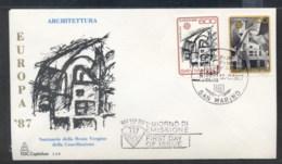 San Marino 1987 Europa Architecture FDC - FDC