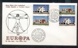 Cyprus Turkish 1987 Europa Architecture + Booklet FDC - Cyprus (Turkey)