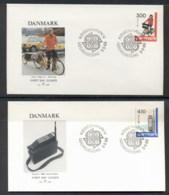 Denmark 1988 Europa Transport & Communication 2x FDC - FDC