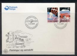 Faroe Is 1988 Europa Transport & Communication FDC - Faroe Islands