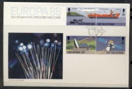 Isle Of Man 1988 Europa Transport & Communication FDC - Isle Of Man