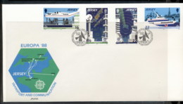 Jersey 1988 Europa Transport & Communication FDC - Jersey