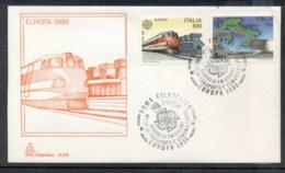 Italy 1988 Europa Transport & Communication FDC - 6. 1946-.. Republic