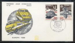Monaco 1988 Europa Transport & Communication FDC - FDC