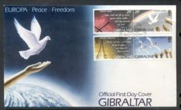Gibraltar 1995 Europa Peace & Freedom FDC - Gibraltar