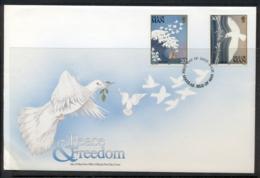 Isle Of Man 1995 Europa Peace & Freedom FDC - Isle Of Man