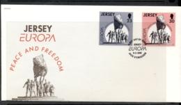 Jersey 1995 Europa Peace & Freedom FDC - Jersey