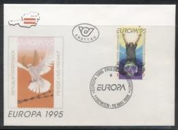 Austria 1995 Europa Peace & Freedom FDC - FDC