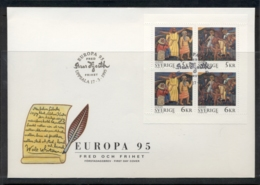 Sweden 1995 Europa Peace & Freedom MS FDC - FDC