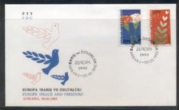 Turkey 1995 Europa Peace & Freedom FDC - 1921-... Republic