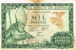 Espagne Spain Banco Espana Billet De Bnaque Bnaknote Monnaie Money 1965 100 Pesetas Saint Pape Us Courant Saint Isidore - [ 3] 1936-1975: Franco
