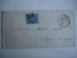 1845 Gros Chiffre Issoire Obliteration Sur Lettre Pour Compains - Marcophilie (Lettres)