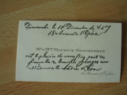 Faire Part  M Mme Maurice Guggenheim  Mention Manuscrite Avis Fiancaille Fils - Non Classés