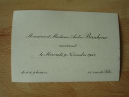 Faire Part M Et Mme Andre Bernheim Recevront 81 Rue De Lille - Non Classés
