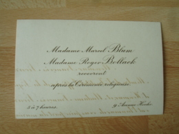 Faire Part Mme Marcel Blum Et Roger Bollack Recevront Apres Ceremonie Religieuse Av Foch - Faire-part
