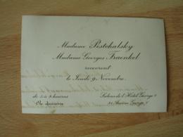 Faire Part Mme Pischalsky Mme Georges Fraenkel Y Recevront Apres Ceremonie Religieuse Hotel Georges 5 - Faire-part
