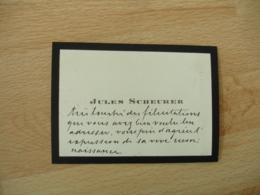 Faire Part  Jules Scheurer Mention Manuscrite Remerciements - Faire-part