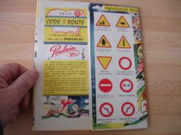 Depliant Publicite Chocolat Poulain Code Route La Route Et Les Enfants - Publicités