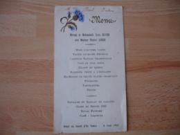 Menu Mariage 1932 Illustre Bleuet - Menus
