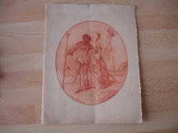 Menu Gravure De 1921 - Menus