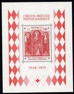 MONACO, 1973 RED CROSS MINISHEET MLH - Monaco