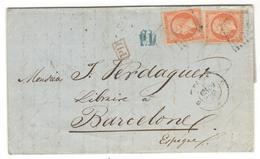 15739 - Tarif  80 C Pour L'ESPAGNE - Marcofilie (Brieven)