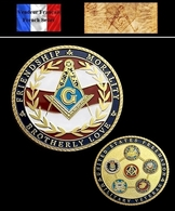 1 Pièce Plaquée OR ( GOLD Plated Coin ) - Franc Maçon Freemason Masonic ( C1 ) - Monnaies