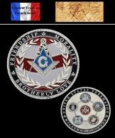 1 Pièce Plaquée ARGENT ( SILVER Plated Coin ) - Franc Maçon Freemason Masonic ( C2 ) - Coins