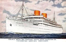 RMMV Reina Del Pacifico Pacific Steam Navigation Co Postcard - Postcards