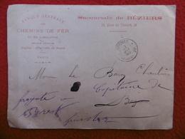 LETTRE CACHET IMPRIMES P P BEZIERS 1890 - Storia Postale