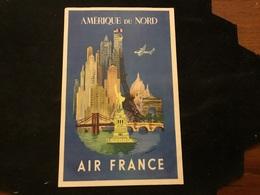 Pub Air France Amérique Du Nord - Airplanes