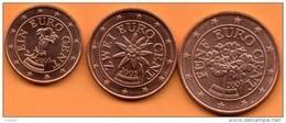 AUTRICHE / AUSTRIA 1+2+5 EURO CENT 2005 To The Roll / De Rouleau - Autriche