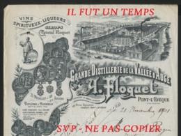 1801 / PONT L'EVEQUE / A. FLOQUET /  Grande Distillerie De La VALLEE D'AUGE - France