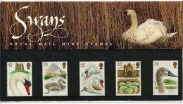 GB GREAT BRITAIN 1993 600TH ANNIVERSARY ABBOTSBURY SWANNERY PRESENTATION PACK No 234 +ALL INSERTSBIRDS SWANS SWAN - Cygnes