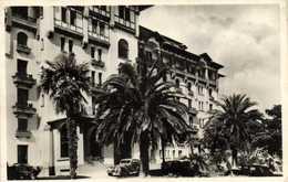 Cpsm Petit Format HENDAYE  Les Grands Hotels RV Timbre 8F Cachet Flamme Daguin Hendaye - Hendaye