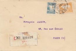 Peru 1932: Registered Lima To Paris - Peru