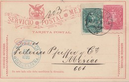 Mexico 1895: Post Card Blume/Guadalajara - Mexiko