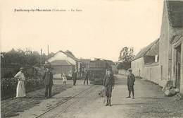FONTENAY-LE-MARMION- La Gare Avec Train - Autres Communes
