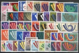 EUROPA - CEPT Jahrgang 1973 Complete Year Set ** MNH - Europa-CEPT