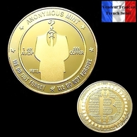 1 Pièce Plaquée OR ( GOLD Plated Coin ) - Bitcoin Anonymous BTC ( Ref 1 ) - Other Coins