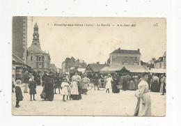 Cp, Commerce , Le Marché ,10 ,ROMILLY SUR SEINE ,écrite - Marchés